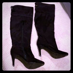 Target faux suede over the knee boots